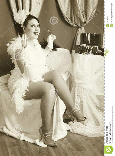 retro flapper style stock photo image  beauty fashion
