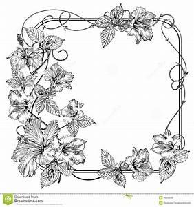 Vintage Flower Vector Illustration Cartoon Vector ...