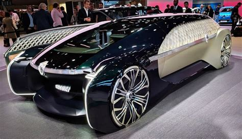 New Luxury Electric Car by Renault Unveils New Futuristic Car With Luxurious Lounge