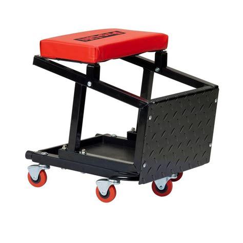 mechanics creeper chair combo pro lift creeper seat with stepstool c 2800 the home depot