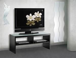 Meuble De Télé Conforama : meuble tv noir en verre conforama photo 9 10 meuble tv gris noir pour un int rieur zen et ~ Teatrodelosmanantiales.com Idées de Décoration
