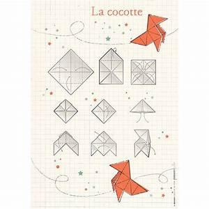affiches gt affiche 21 x 30 cm origami cocotte vert With affiche chambre bébé avec faire livrer des fleurs pour noel