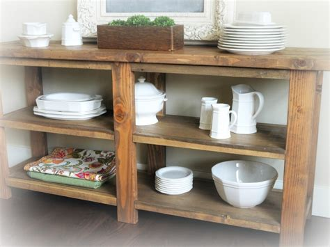 Wooden Diy Outdoor Buffet Table PDF Plans