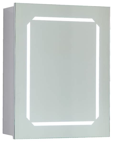 vanity led lighted bathroom mirror with wooden cabinet