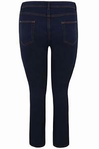 Indigo Blue Straight Leg Ruby Jeans Plus Size 14 To 36