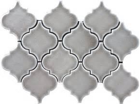 kitchen wall backsplash panels 9 79sf dove gray arabesque glazed ceramic mosaic tile