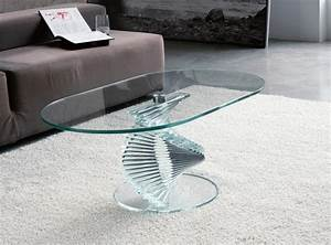 Couchtisch Oval Glas : la table basse ovale variantes modernes d 39 un meuble classique ~ Frokenaadalensverden.com Haus und Dekorationen