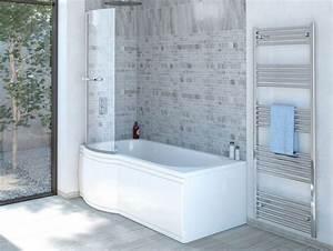 Duschbadewanne 170x85 Cm L Mit Badewannenaufsatz