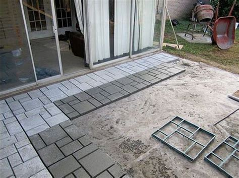 cost to remove concrete patio decor 9 diy cool creative patio flooring ideas