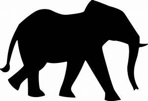 Clipart - Elephant Silhouette 3