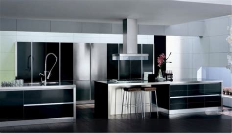 black and white contemporary kitchen ideas de dise 241 o de cocinas en blanco y negro decorando mejor 7843