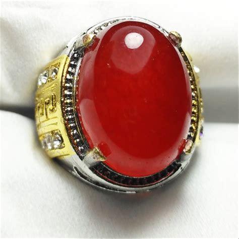 Batu Akik Giok Serpentine jual cincin batu akik giok merah di lapak yuqi