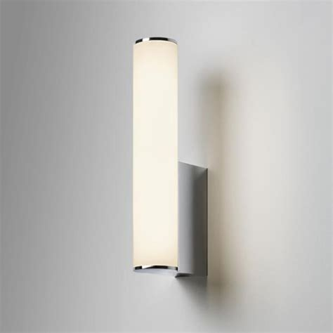 domino bathroom wall light   polished chrome