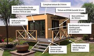Chalet Bois Habitable Clef En Main : constructeur de maisons et studios de jardin ossature ~ Melissatoandfro.com Idées de Décoration