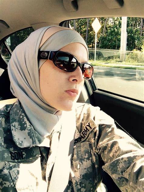 muslim united states army solider  hijabi solider