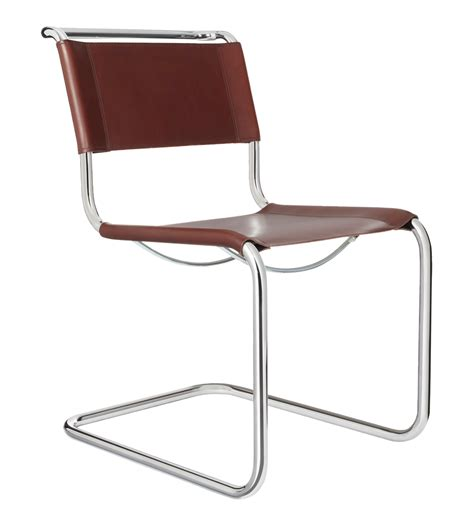Mart Stam Stuhl by S33 Chair Brown Leather Mart Stam Marcel Breuer And