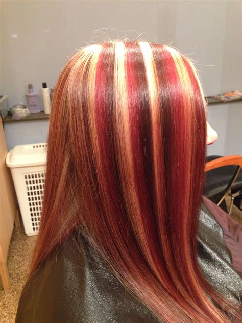 Multi Colored Highlights Nashvilletn Redhair Blonde