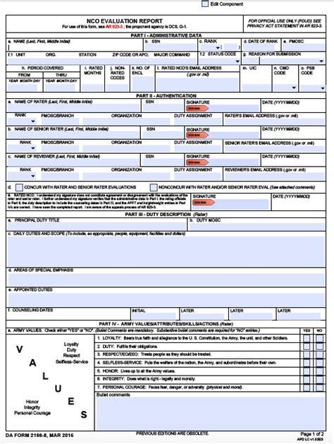 da form 2166 8 nco evaluation report pdf