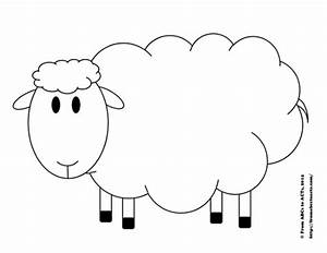 sheep template printable new calendar template site With lamb cut out template