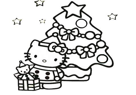 ausmalbilder  kitty weihnachten  malvorlage