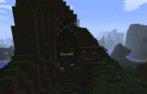 house  mountain minecraft project