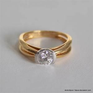 bague solitaire or 750 18k platine diamants 45grs bijoux With bijoux bague
