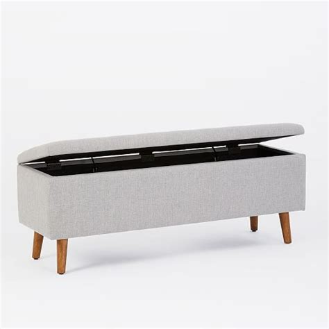 west elm storage bench mid century storage bench west elm