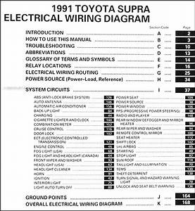 1991 Toyota Supra Wiring Diagram Manual Original