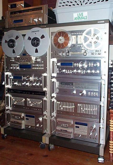 vintage classic pioneer spec rack silver faced audio gear