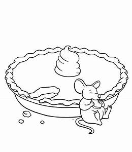 The Mouse Eat Pie Coloring Pages | Fall Coloring Pages ...