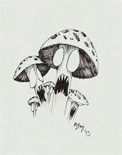 Trippy Mushroom Drawing Ink Drawings Mushrooms Shrooms