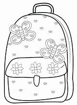 Coloring Supplies Backpack Pages Bag Getcolorings Printable Illustration sketch template