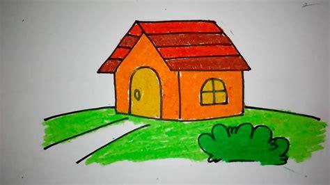 menggambar rumah untuk anak tk