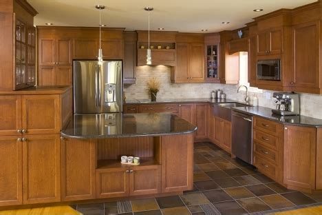 laminate flooring kitchen wood cuisines laurier 3630