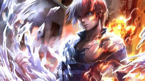shoto todoroki fire ice  hero academia