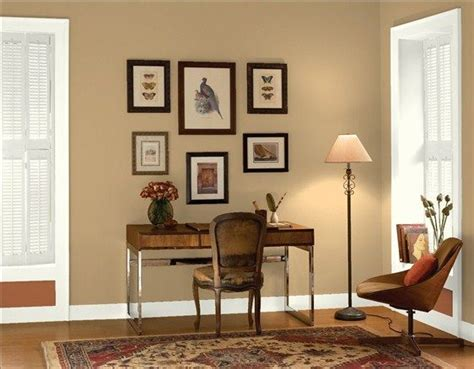 classic home office wall color taupe trim