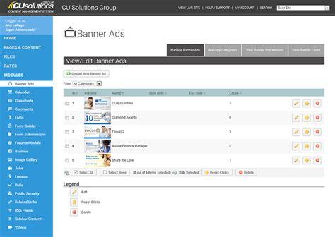 credit union website template credit union website content management system