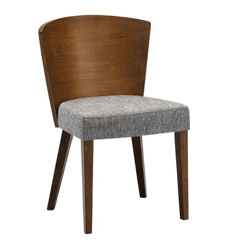 30852 dining chair cushion contemporary mid century fabric and wood dining chair 2 set by