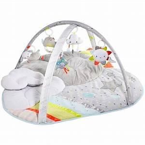 Tapis d39eveil nuage de skip hop moins cher chez babylux for Tapis chambre bébé avec protege matelas 150x190
