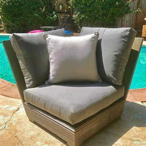 ventura teak patio corner sunbrella cushion iksun