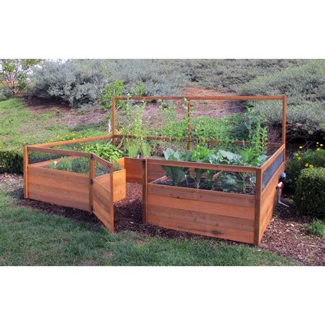 vegetable raised bed plans gardens to gro 8 x 12 ft vegetable garden kit raised bed container gardening at hayneedle
