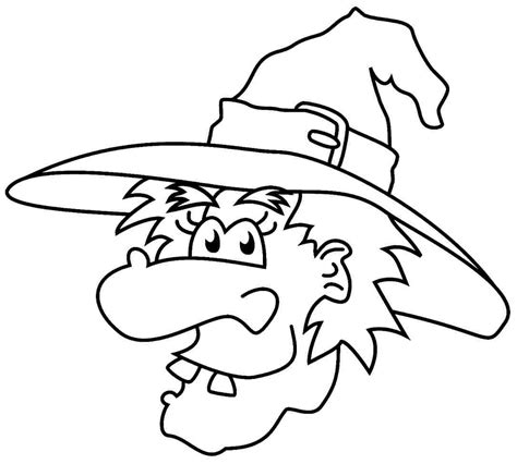 printable halloween coloring pages witch coloring home