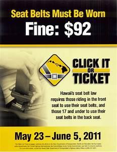 Maui Now : Click-It-Or-Ticket Seat Belt Enforcement Begins ...