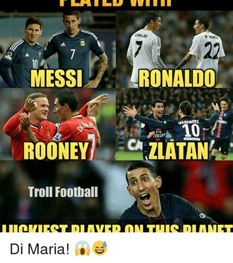 Ronaldo Meme - messi ronaldo 10 irirafe rooney zlatan troll football di maria meme on sizzle