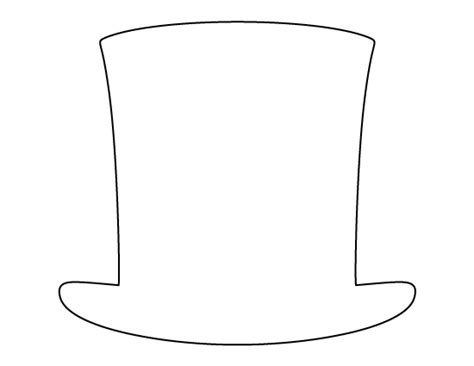 abraham lincoln hat pattern   printable outline