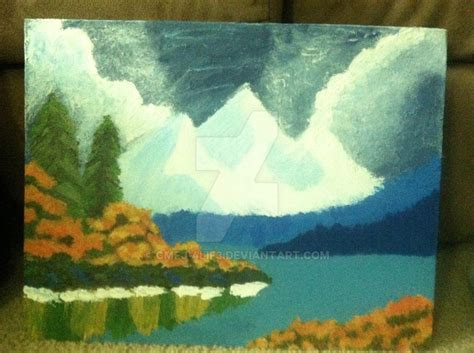 Finished Happy Little Trees Bob Ross By Cmfj-4lif3 On