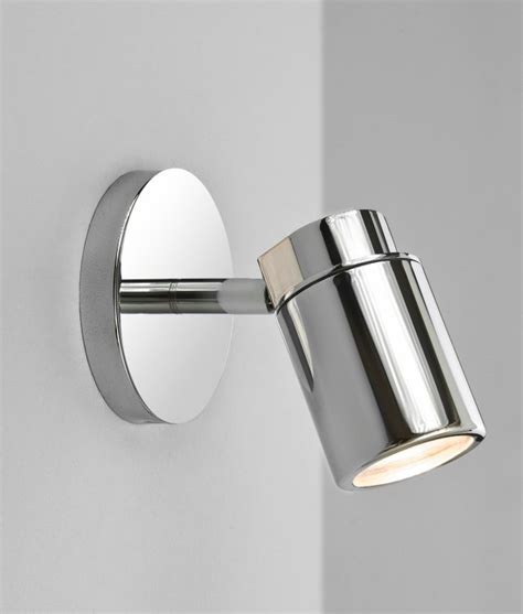 polished chrome single spot light ip44 rated suitable