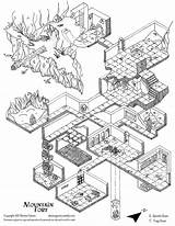 Dungeon Map Maps Isometric Drawing Fantasy Dnd Rpg Dungeons Dragons Climbing Trapdoor Weebly Mountains Layout 5e Concept Battle Drawings Copy sketch template