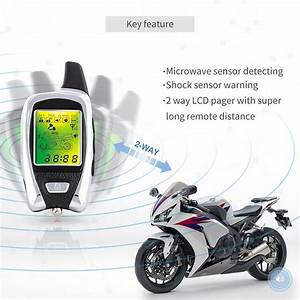Lcd Pager 2 Way Motorcycle Alarm System With Remote Engine