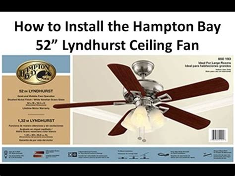 how to install hton bay ceiling fan how to install a ceiling fan lyndhurst youtube